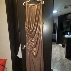 Dresses & Skirts - Halston Metallic Evening gown